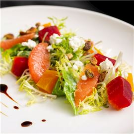 Roasted Red & Golden Beet Salad